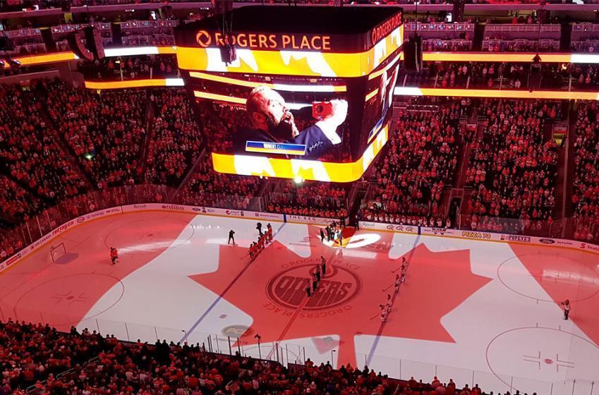 Du jamais vu en début de match à Edmonton!