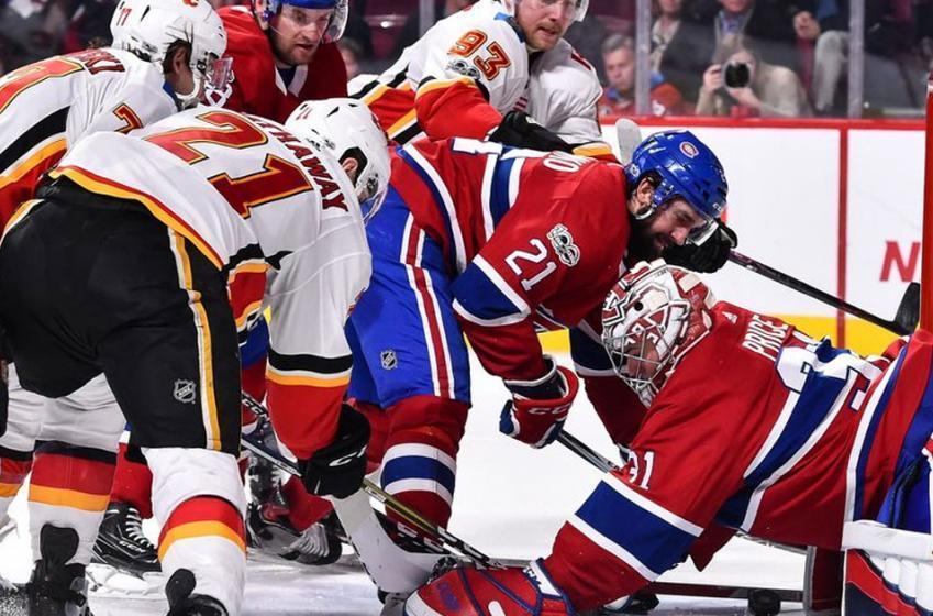 Controverse en première période du match Canadiens - Flames!